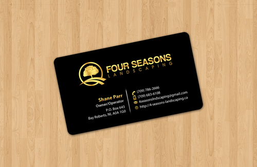 Four Seasons Landscaping Business Cards and Stationery  Draft # 2 by einsanimation