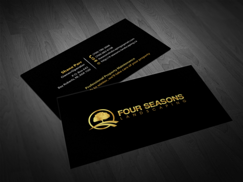 Four Seasons Landscaping Business Cards and Stationery  Draft # 32 by einsanimation