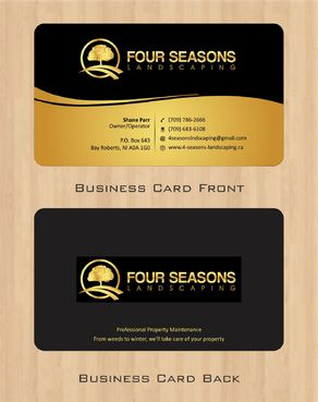Four Seasons Landscaping Business Cards and Stationery  Draft # 45 by Deck86