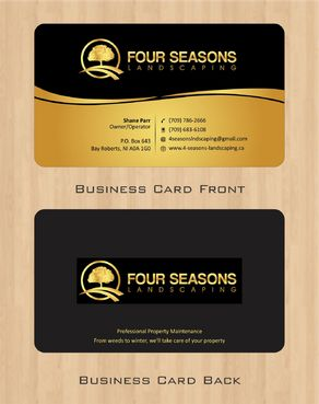 Four Seasons Landscaping Business Cards and Stationery  Draft # 46 by Deck86