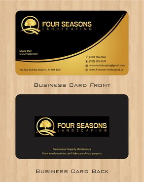 Four Seasons Landscaping Business Cards and Stationery  Draft # 47 by Deck86