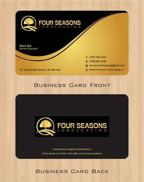 Four Seasons Landscaping Business Cards and Stationery  Draft # 48 by Deck86
