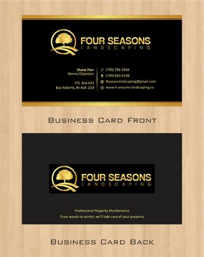 Four Seasons Landscaping Business Cards and Stationery  Draft # 49 by Deck86