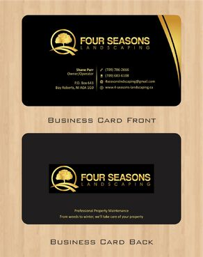 Four Seasons Landscaping Business Cards and Stationery  Draft # 50 by Deck86