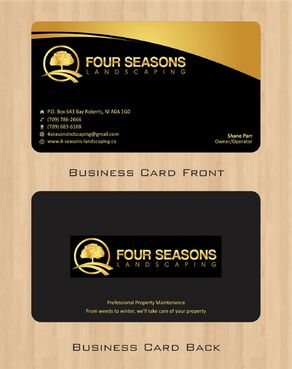Four Seasons Landscaping Business Cards and Stationery  Draft # 51 by Deck86