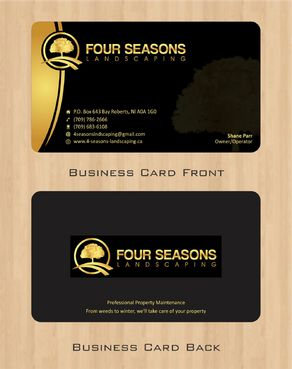 Four Seasons Landscaping Business Cards and Stationery  Draft # 52 by Deck86