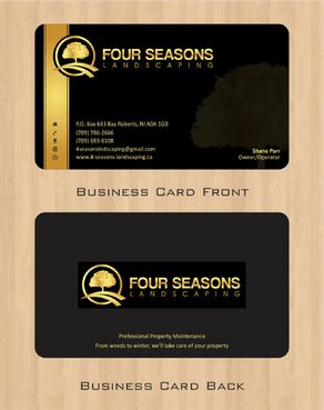 Four Seasons Landscaping Business Cards and Stationery  Draft # 54 by Deck86