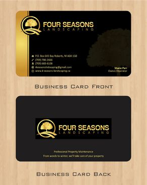 Four Seasons Landscaping Business Cards and Stationery  Draft # 53 by Deck86