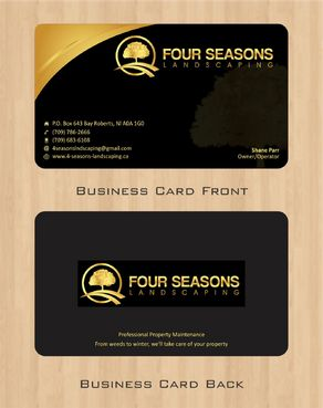 Four Seasons Landscaping Business Cards and Stationery  Draft # 55 by Deck86