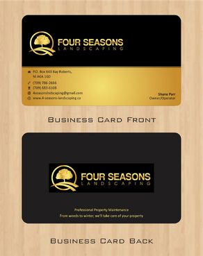 Four Seasons Landscaping Business Cards and Stationery  Draft # 62 by Deck86