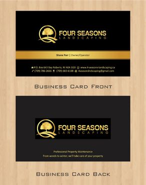 Four Seasons Landscaping Business Cards and Stationery  Draft # 67 by Deck86