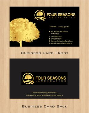 Four Seasons Landscaping Business Cards and Stationery  Draft # 71 by Deck86