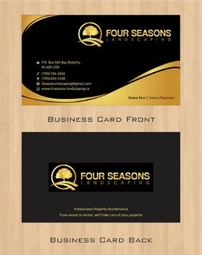 Four Seasons Landscaping Business Cards and Stationery  Draft # 72 by Deck86