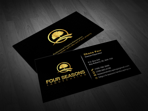 Four Seasons Landscaping Business Cards and Stationery  Draft # 74 by einsanimation
