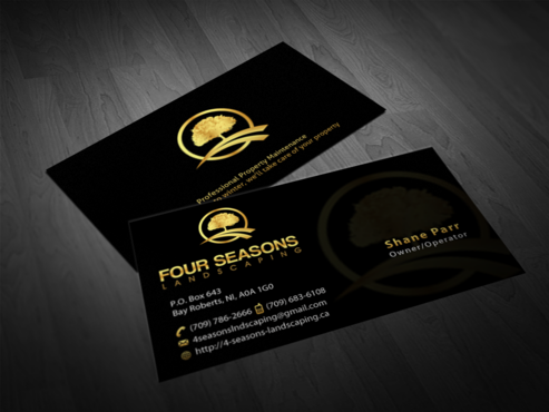 Four Seasons Landscaping Business Cards and Stationery  Draft # 75 by einsanimation