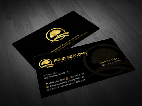 Four Seasons Landscaping Business Cards and Stationery  Draft # 76 by einsanimation