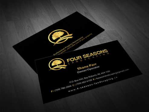 Four Seasons Landscaping Business Cards and Stationery  Draft # 77 by einsanimation