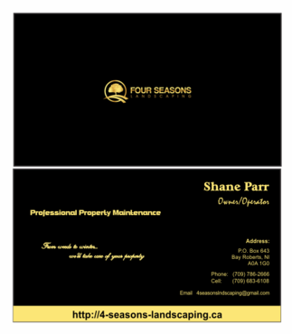 Four Seasons Landscaping Business Cards and Stationery  Draft # 104 by Parosworld
