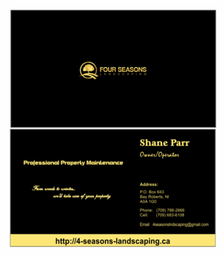 Four Seasons Landscaping Business Cards and Stationery  Draft # 105 by Parosworld