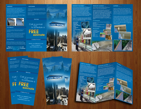 Tri Fold 8.5 x 11 Brochures Marketing collateral  Draft # 18 by boygraphics