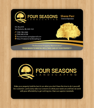 Four Seasons Landscaping Business Cards and Stationery  Draft # 106 by waterdropdesign