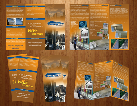Tri Fold 8.5 x 11 Brochures Marketing collateral  Draft # 20 by boygraphics