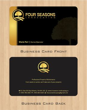Four Seasons Landscaping Business Cards and Stationery  Draft # 109 by Deck86