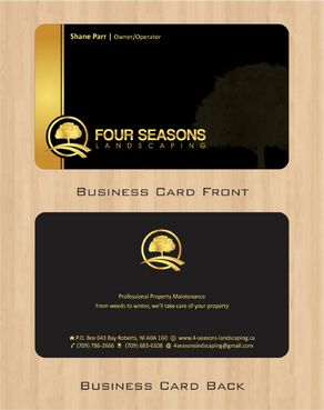Four Seasons Landscaping Business Cards and Stationery  Draft # 108 by Deck86