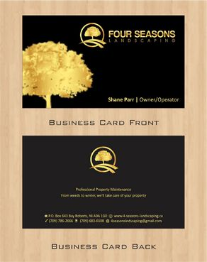 Four Seasons Landscaping Business Cards and Stationery  Draft # 110 by Deck86