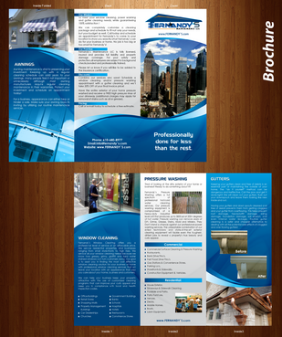 Tri Fold 8.5 x 11 Brochures Marketing collateral  Draft # 24 by XtremeCreative2