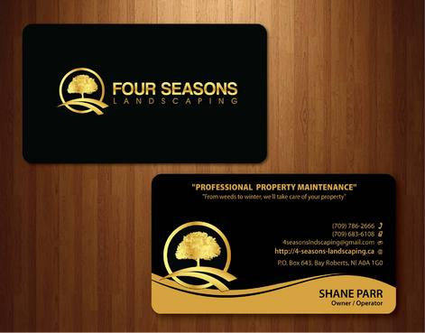 Four Seasons Landscaping Business Cards and Stationery  Draft # 123 by smartinfo