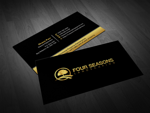 Four Seasons Landscaping Business Cards and Stationery  Draft # 125 by einsanimation