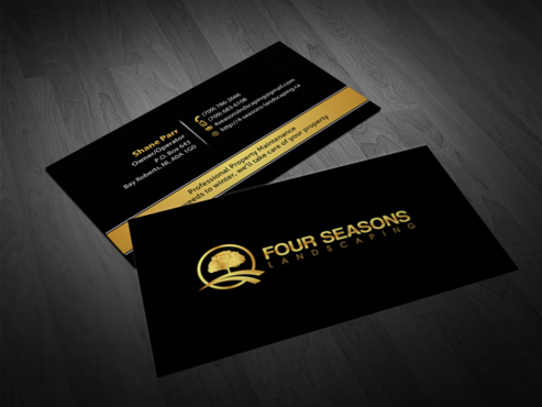 Four Seasons Landscaping Business Cards and Stationery  Draft # 126 by einsanimation