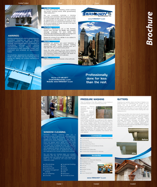 Tri Fold 8.5 x 11 Brochures Marketing collateral  Draft # 27 by XtremeCreative2