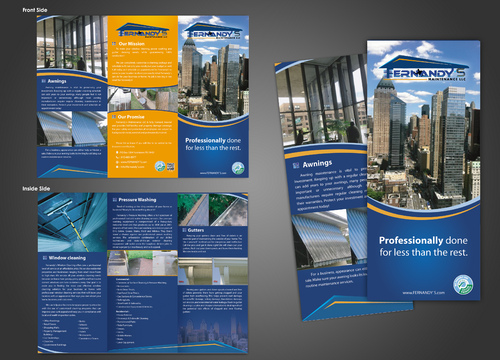 Tri Fold 8.5 x 11 Brochures Marketing collateral  Draft # 37 by unresolve