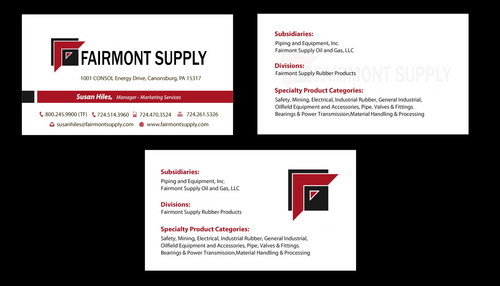 business card with stationery