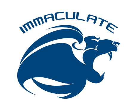 "(Lions Head Mascot Design) and over it ""IMMACULATE"" (maybe curved around the lions head)"