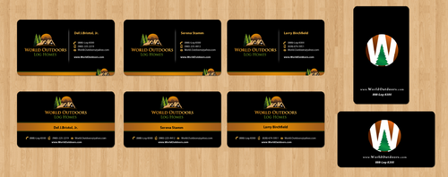 World Outdoors Log Homes Business Cards & Stationary