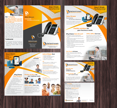 A trifold brochure, matching 1 page flyer and optional matching postcard