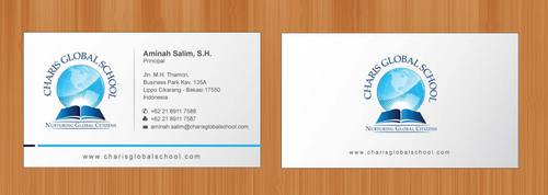 Business card for school with logo