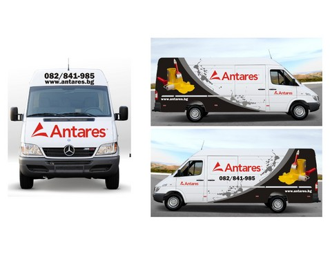 Bus and pick-up vehicle wrap design
