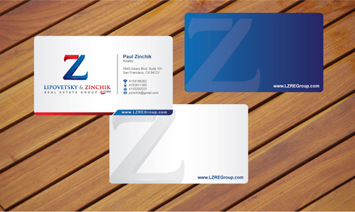 Lipovetsky & Zinchik Real Eastate Group cards and stationary  Business Cards and Stationery  Draft # 15 by cArnn