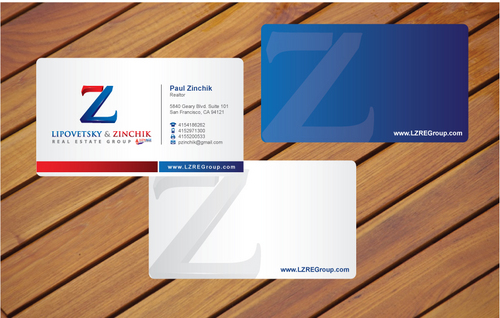 Lipovetsky & Zinchik Real Eastate Group cards and stationary  Business Cards and Stationery  Draft # 16 by cArnn