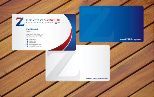 Lipovetsky & Zinchik Real Eastate Group cards and stationary  Business Cards and Stationery  Draft # 22 by cArnn