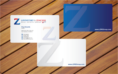 Lipovetsky & Zinchik Real Eastate Group cards and stationary  Business Cards and Stationery  Draft # 23 by cArnn