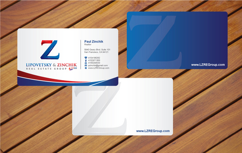 Lipovetsky & Zinchik Real Eastate Group cards and stationary  Business Cards and Stationery  Draft # 24 by cArnn