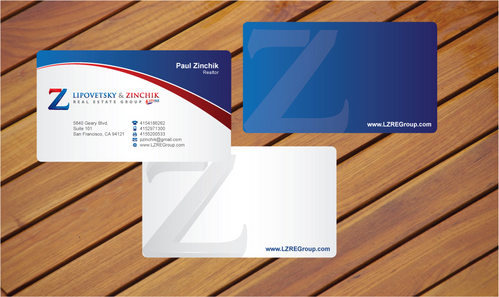 Lipovetsky & Zinchik Real Eastate Group cards and stationary  Business Cards and Stationery  Draft # 25 by cArnn