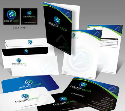 Business Cards, Letterhead, Envelope, Sticker, Fax Cover sheet