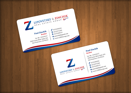 Lipovetsky & Zinchik Real Eastate Group cards and stationary  Business Cards and Stationery  Draft # 31 by einsanimation