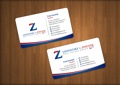 Lipovetsky & Zinchik Real Eastate Group cards and stationary  Business Cards and Stationery  Draft # 33 by einsanimation